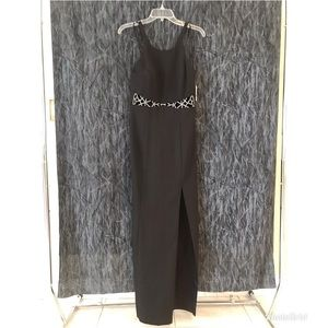 NWT Faviana black formal dress with rhinestones